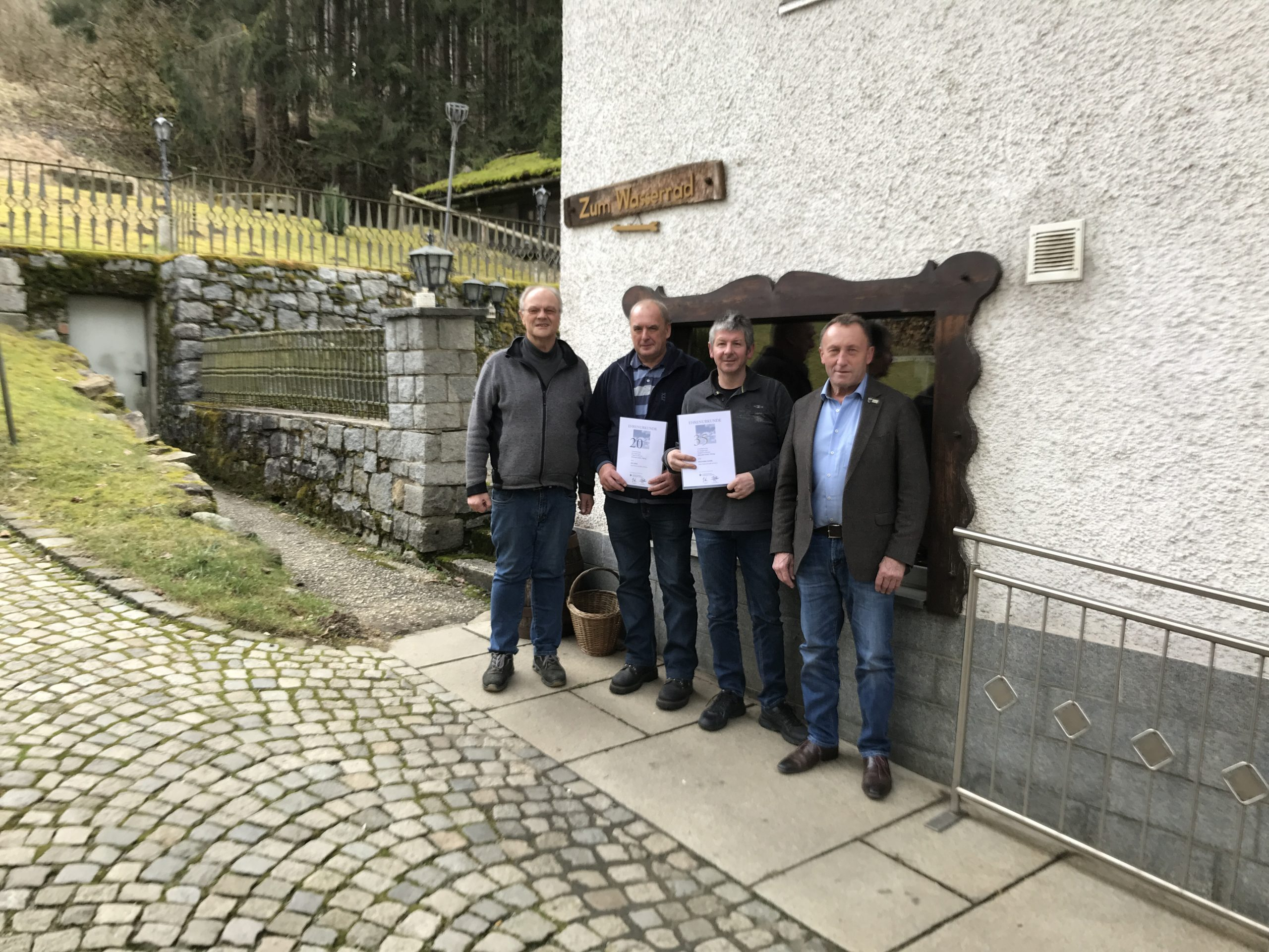 Kunstschmiede Alteneder Betriebsjubiläum für 30 Jahre und 20 Jahre Betriebstreue im Jahr 2020